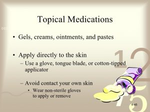 Topical medications 2